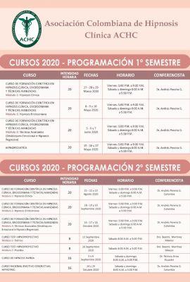 Programación Cursos Año 2020