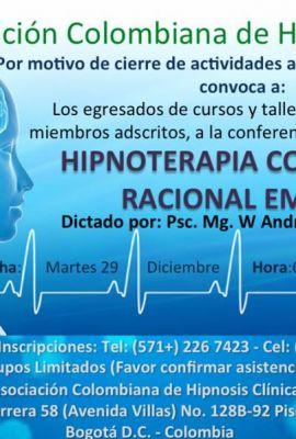 Conferencia / Conversatorio - Hipnoterapia Conductual