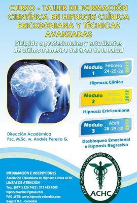 Curso de Formación Científica en Hipnosis Clínica, Ericksoniana y Técnicas Avanzadas